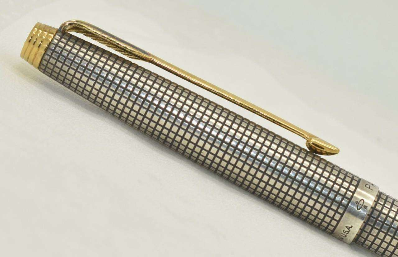 Parker  Sterling Silver Cisele /& Gold Ballpoint New  New In Box Made  In France